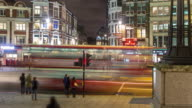 Panning Timelapse of London Evening Commute