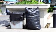 HD panning: Trash bag and bin.