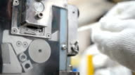 panning: using grinder to cut plastic extrude to form plastic pellet