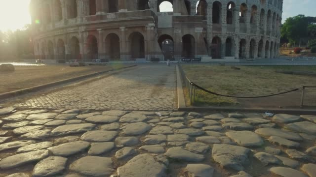 Panning video  of the Coliseum of Rome