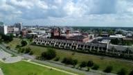 Panning view of Memphis Skyline