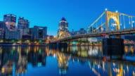 Panorama of downtown Pittsburgh skyline
