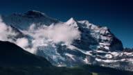 Panorama of Jungfrau mounatin Alps