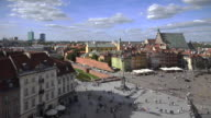 Panorama of Old Town and Royal Castle in Warsaw
