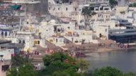 Panorama of the city and the sacred lake. India, Pushkar