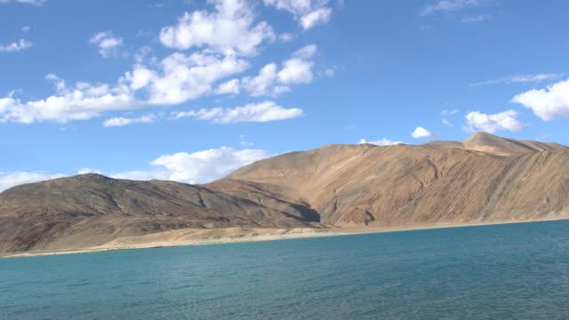 Panorama view of Pangong Lake, Ladakh, India