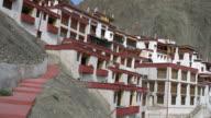 Panorama view of the Rizong Buddhist Monastery in Ladakh, India