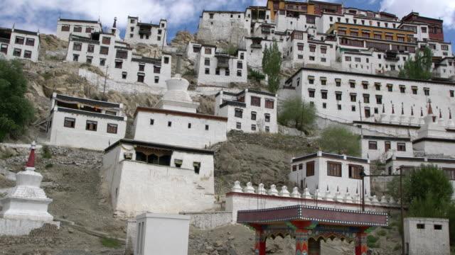 Panorama view of Thiksay Monastery, Ladakh, India
