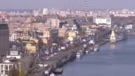 Panorama view riverport