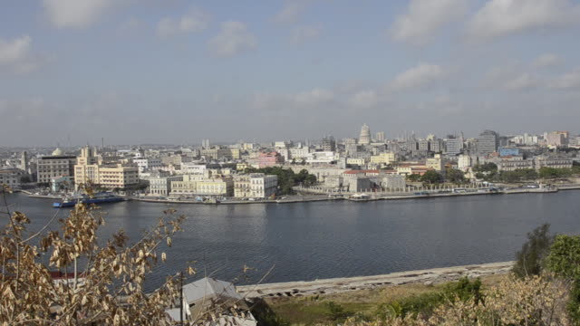 Panoramic of Havana Cuba from above at the Christ statue