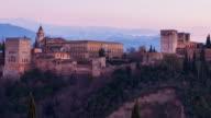 Panoramic of The Alhambra en Granada