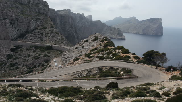 Panoramic view at Formentor on Mallorca - serpentine