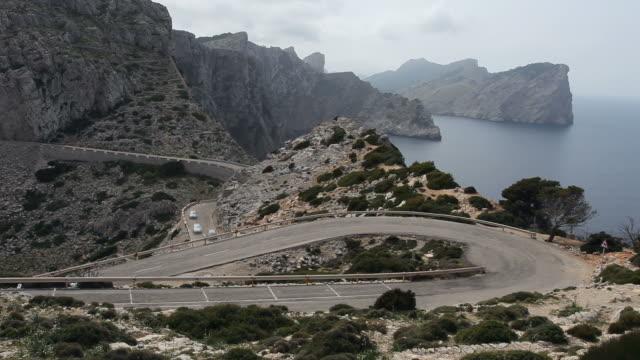 Vista panoramica a Formentor a Maiorca-serpentine