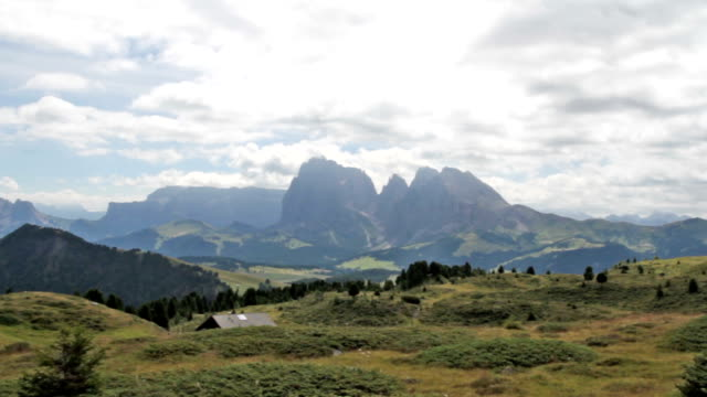 Panoramic view at Seiser Alm - Dolomites - Italy