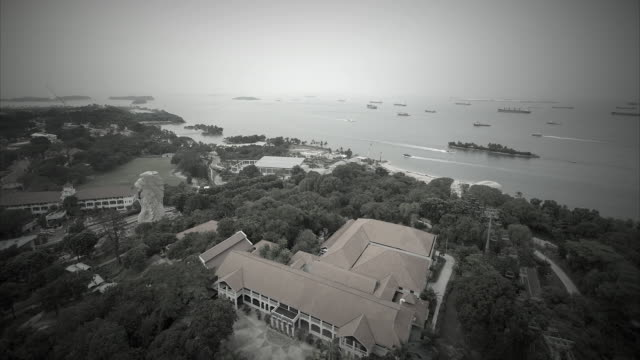 T/L panoramic view from Carlsberg Sky Tower, Sentosa, Singapore