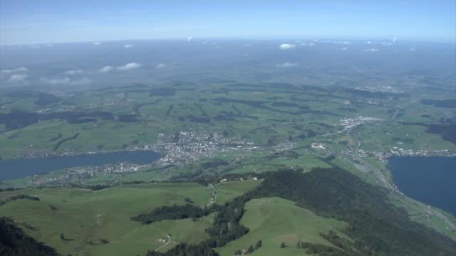 Panoramic view from mount Rigi