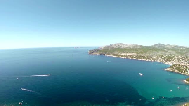 Vista panoramica di Cassis e Calanque Coast