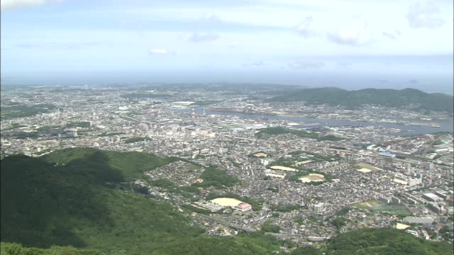 Panoramic View Of Kitakyushu City