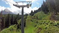 Panoramic view of Langkofel from chair-lift