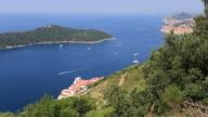 Panoramic view of Lokrum Island, Adriatic Sea, Dalmatia Coast, Croatia.