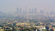 Panoramic view of Los Angeles from Mulholland Drive