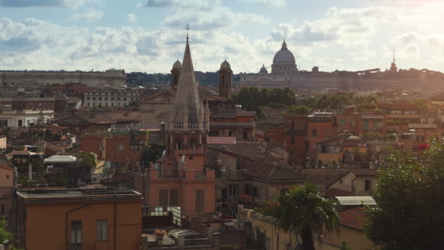 Panoramic view of Rome  from Pincio Hill