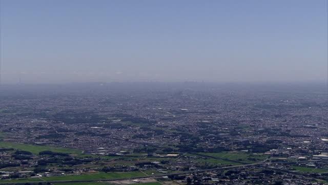 AERIAL, Panoramic View Of Saitama, Japan