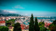 TL Panoramic view of the city and waterfront  / France, Cannes