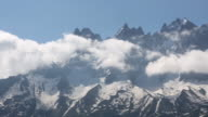 A panoramic view of the French Alps above Chamonix.