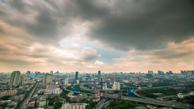 4K : Panoraminc view of bangkok