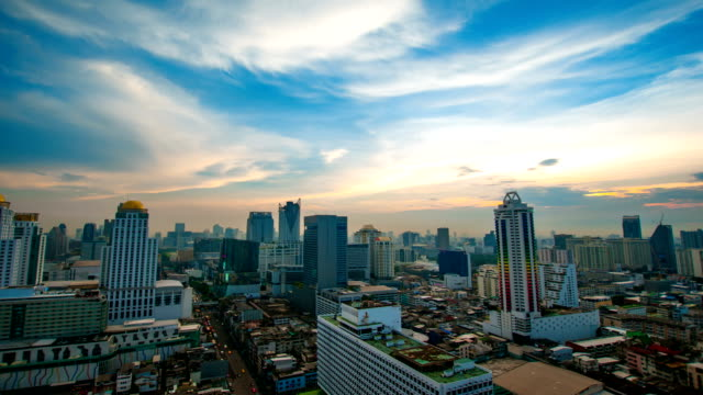 Panoraminc view of urban landscape. Timelapse