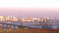 Panorma view suburbs evening