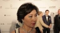 INTERVIEW Pansy Ho on amfAR at 2015 amfAR Hong Kong gala at Shaw Studios on March 14 2015 in Hong Kong