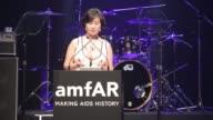 SPEECHES Pansy Ho on amfAR at 2015 amfAR Hong Kong gala at Shaw Studios on March 14 2015 in Hong Kong