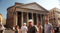 Pantheon with tourists