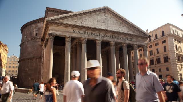 Pantheon with tourists