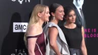 Paola Nunez Jess Weixler Elizabeth Frances at the Premiere Of AMC's 'The Son' on April 03 2017 in Hollywood California
