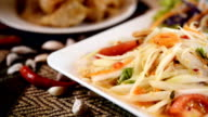 papaya salad Thai Famous Thai food, ( Som tum thai)