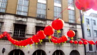Paper lanterns in London chinatown