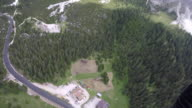 Parachuter POV flying over forest