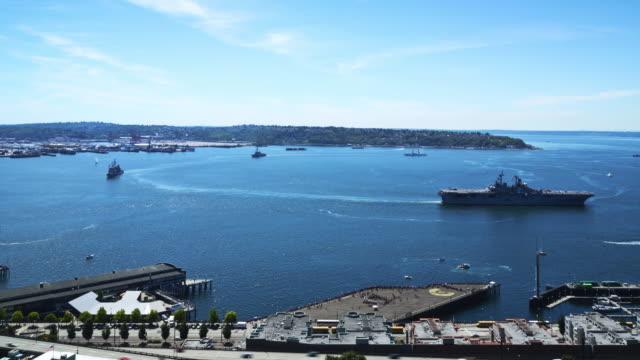 Parade of Ships & Flight in Elliott Bay as part of Seafair Fleet Week