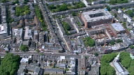 Air views ENGLAND London VIEWS / AERIALS of crowds of Arsenal supporters gathered outside the Emirates Stadium to celebrate the FA Cup win of Arsenal...