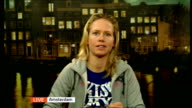 Paralympic cyclic regains use of her legs ENGLAND London GIR INT Monique van der Vorst 2 WAY interview from Amsterdam SOT discusses recovering use of...