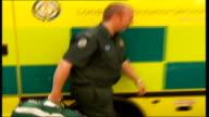 Paramedics out of ambulance