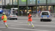 Paramedics running to Mall on July 22 2016 in Munich Germany
