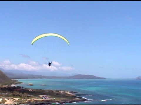 Parasailor flying away
