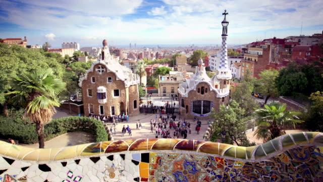 Parc Guell, Barcelona, Spanje Spanje