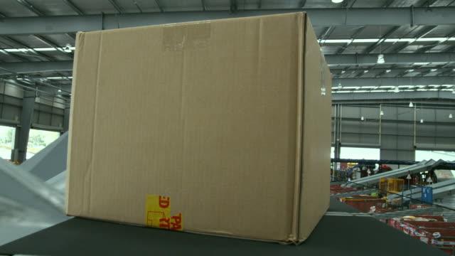 POV Parcel on conveyer, Auckland, New Zealand
