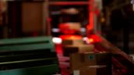 Parcel Scanner Station In Distribution Center