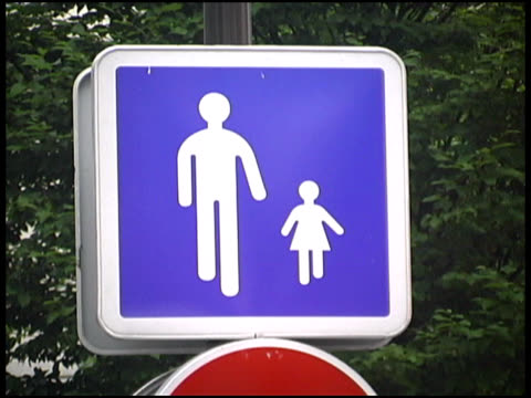 Parent and Child -- French Cross Walk, Predestrian Crossing Sign